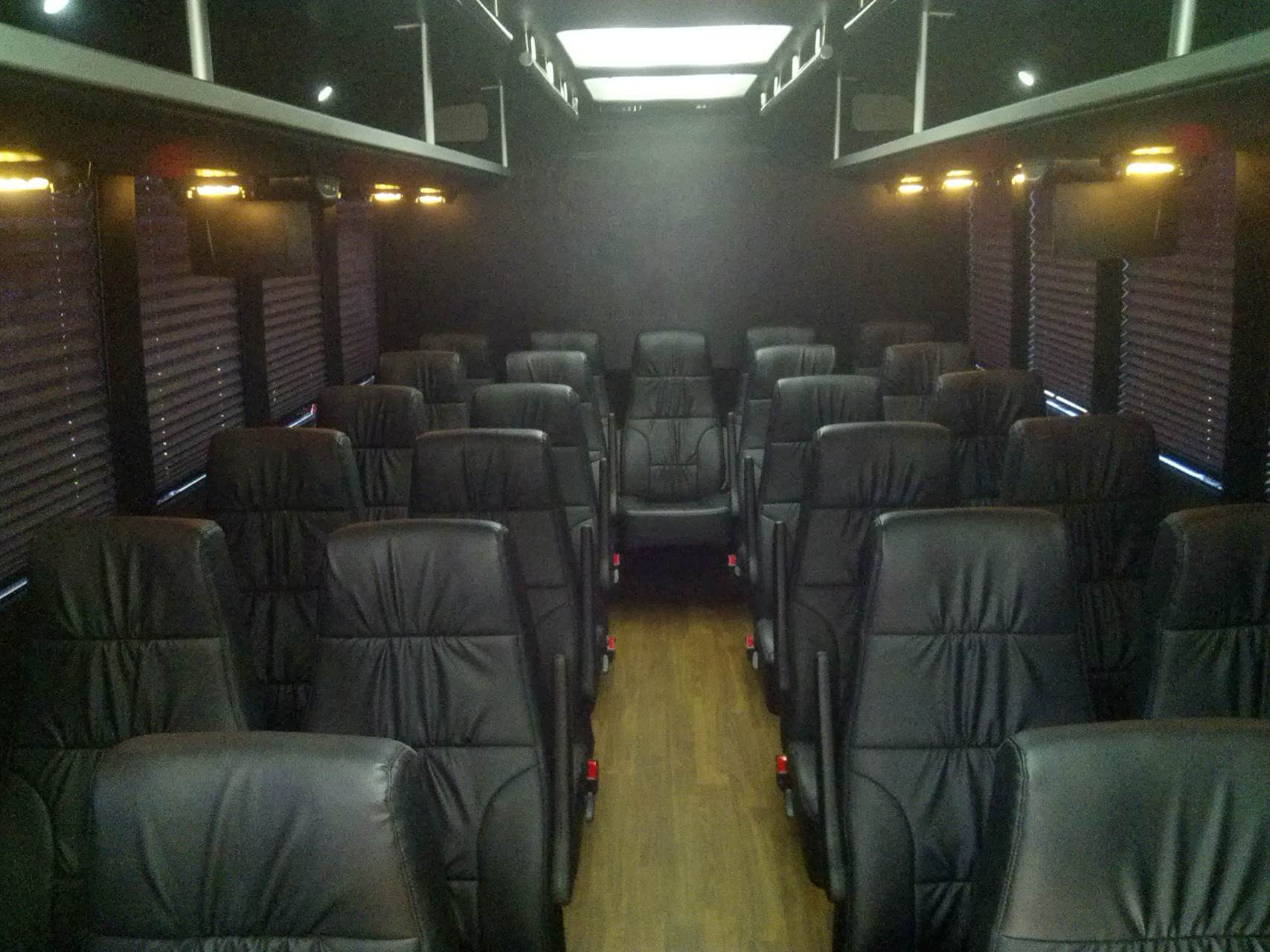28 pax leather interior