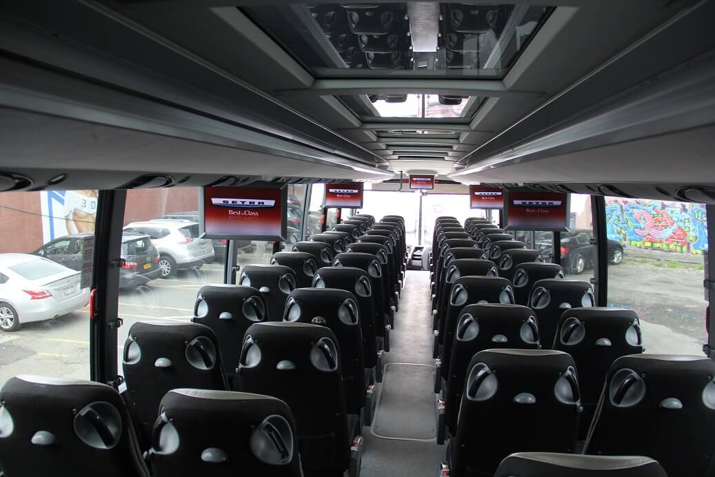 55 PAX LEATHER SEATING REAR VIEW INT