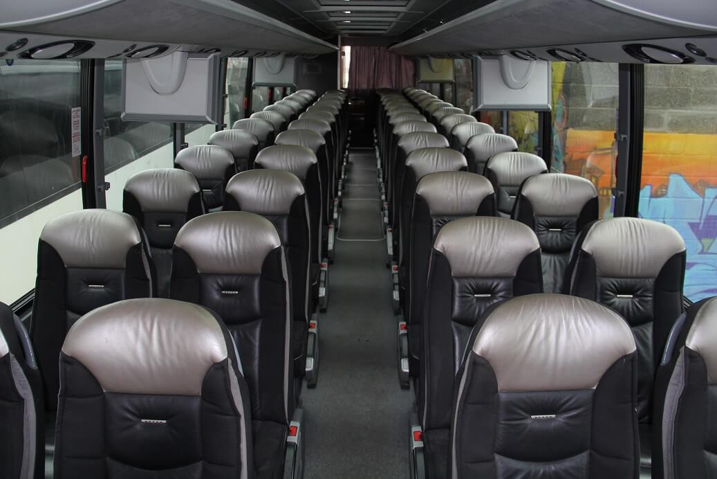 55 PAX MOTOR COACH LEATHER INT. WIDE