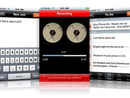 jott for iphone voice recording application