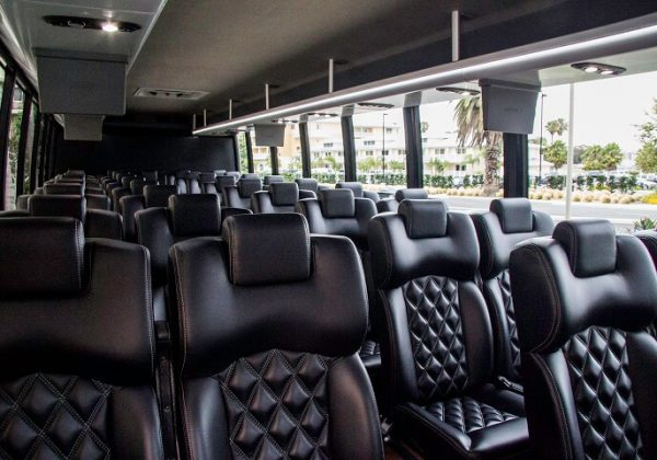 30 passenger mini coach interior