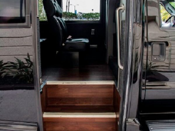30 passenger mini coach steps